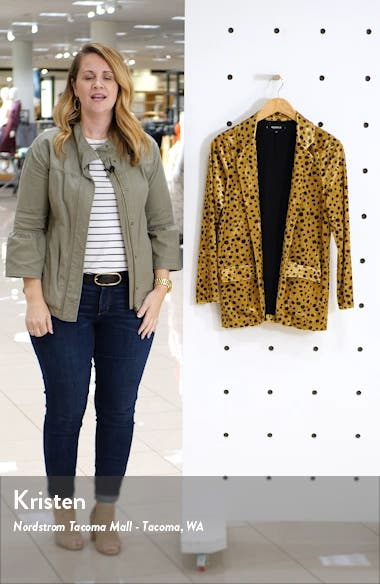 Ansel Cheetah Print Velvet Jacket, sales video thumbnail