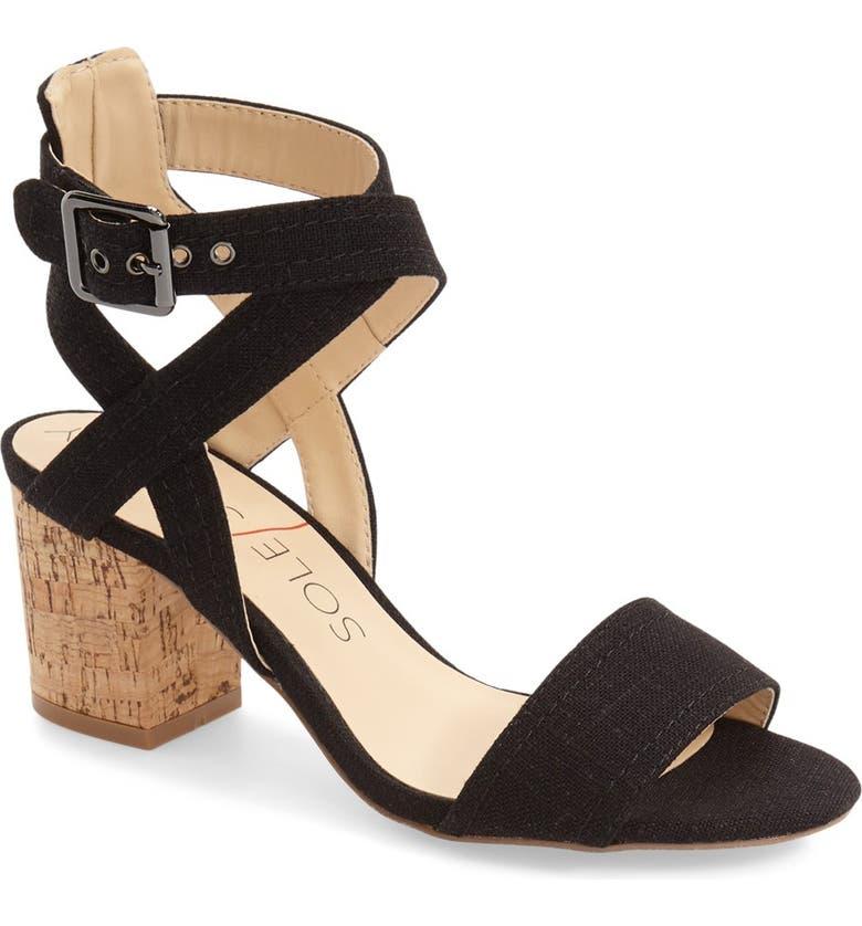 SOLE SOCIETY 'Zahara' Block Heel Sandal, Main, color, 004