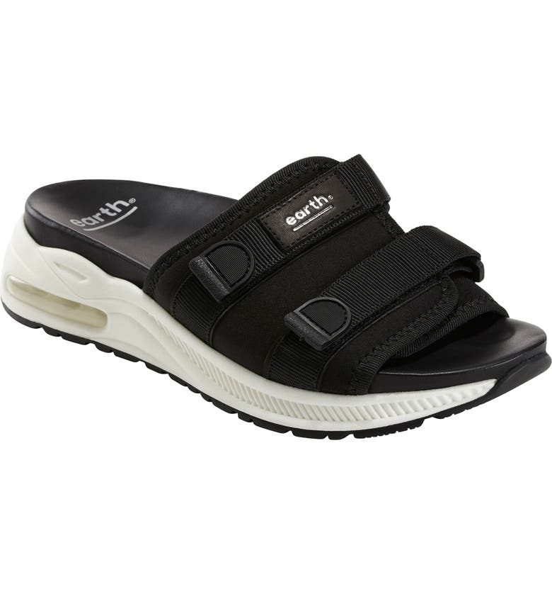 EARTH<SUP>®</SUP> Kamala Slide Sandal, Main, color, BLACK
