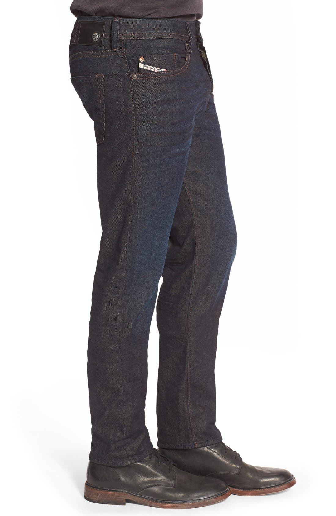 ,                             'Buster' Slim Straight Leg Jeans,                             Alternate thumbnail 3, color,                             400