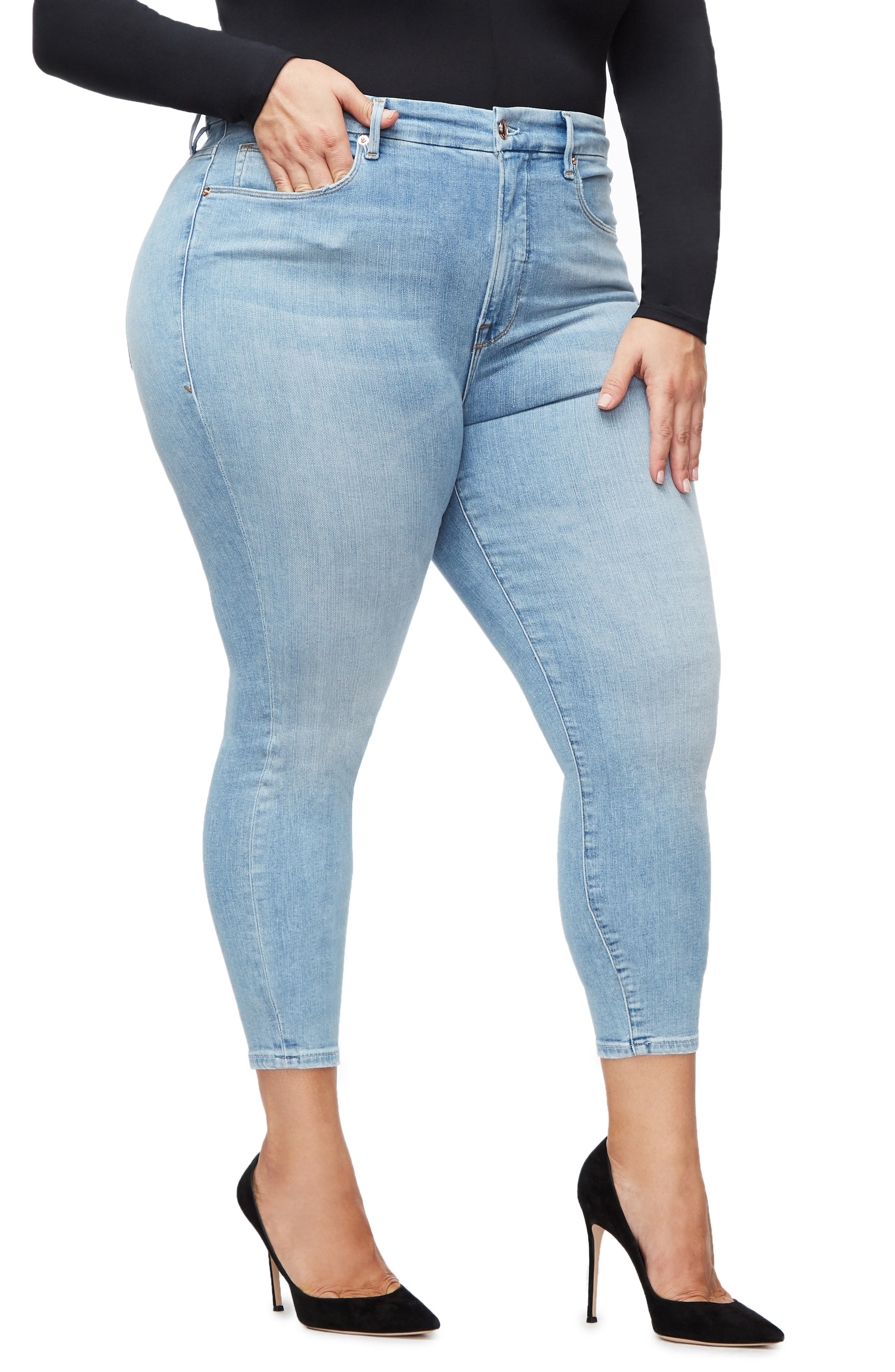 ,                             Good Legs Ankle Skinny Jeans,                             Alternate thumbnail 25, color,                             404