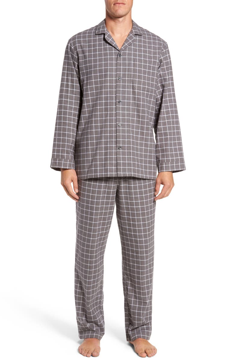 NORDSTROM MEN'S SHOP '824' Flannel Pajama Set, Main, color, 030