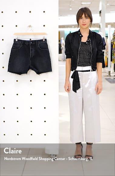 Bonnie Raw Hem Cutoff Denim Shorts, sales video thumbnail