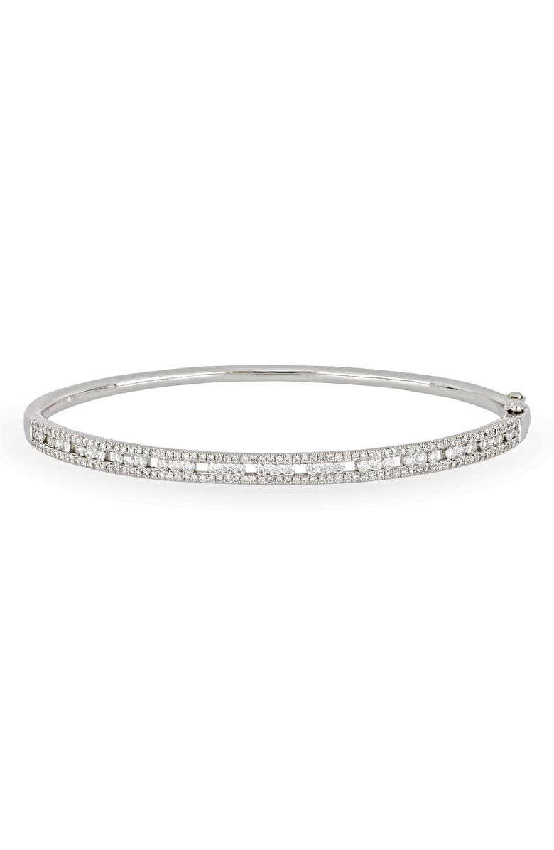 BONY LEVY Amara Deluxe Hinge Bangle, Main, color, WHITE GOLD