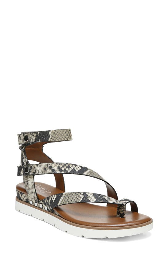 Franco Sarto Daven Sandals Women's Shoes In Grey Faux Leather