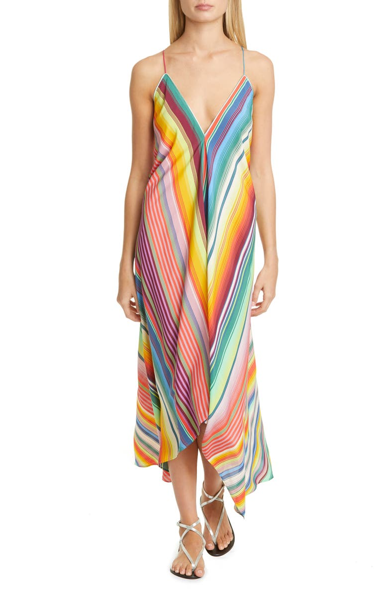 ETRO Multi Stripe Cover-Up Maxi Dress, Main, color, MULTI