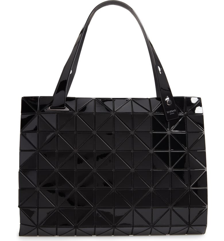 BAO BAO ISSEY MIYAKE Carton Prism Tote Bag, Main, color, JET BLACK