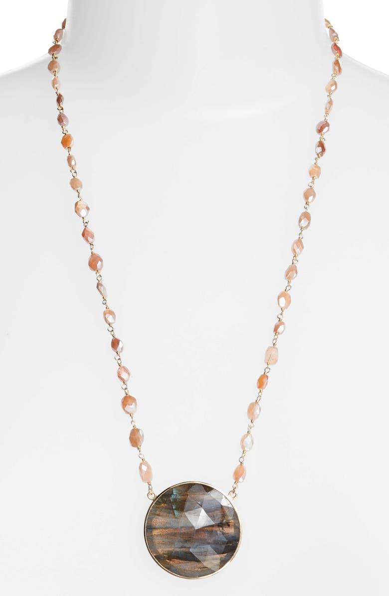 ELA RAE Morah Semiprecious Stone Necklace, Main, color, 021