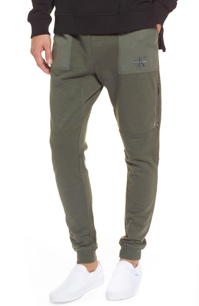 CALVIN KLEIN JEANS Cargo Sweatpants, Main, color, 020