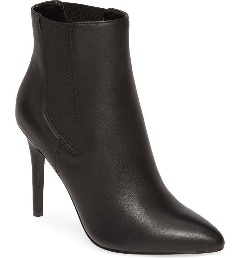 CHARLES BY CHARLES DAVID Panama Pointy Toe Bootie, Main, color, BLACK LEATHER