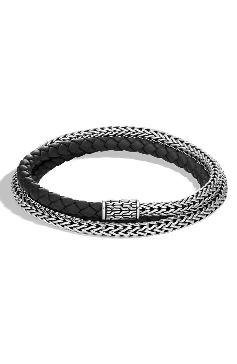 JOHN HARDY Men's Classic Chain Double Wrap Bracelet, Main, color, 001