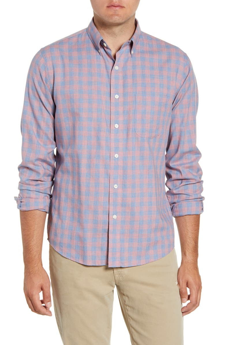 FAHERTY Everyday Regular Fit Check Button-Down Shirt, Main, color, OJAI ROSE CHECK