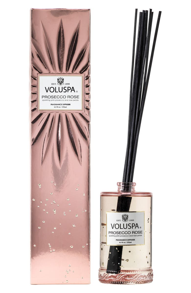 VOLUSPA Vermeil Prosecco Rose Fragrant Oil Diffuser, Main, color, NO COLOR