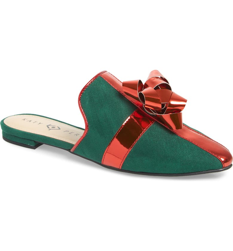 KATY PERRY The Stephanie Mule, Main, color, GREEN/ RED FAUX LEATHER