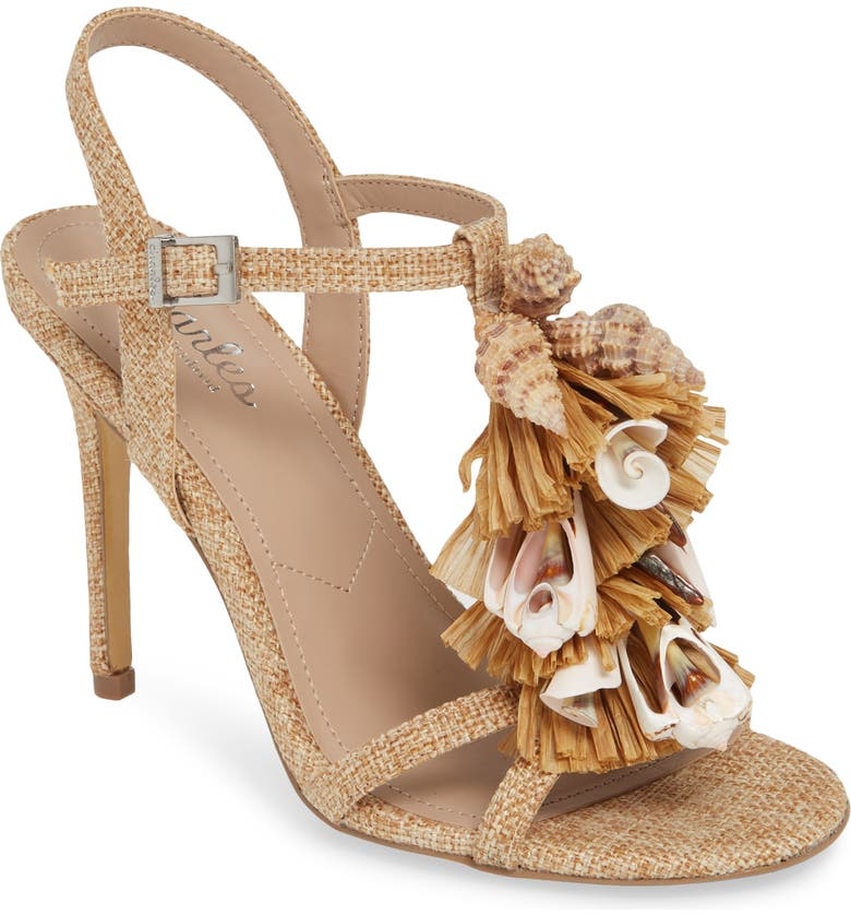 CHARLES BY CHARLES DAVID Radical Embellished Sandal, Main, color, SAND FABRIC