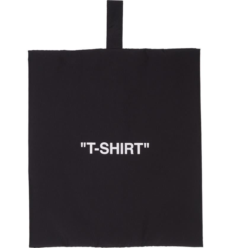 OFF-WHITE T-Shirt Storage Pouch, Main, color, BLACK WHITE