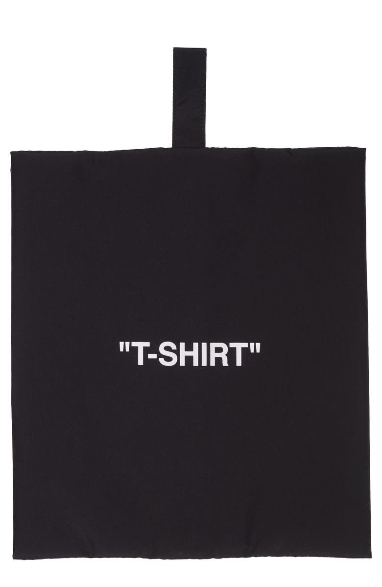 OFF-WHITE T-Shirt Storage Pouch, Main, color, BLACK WHITE