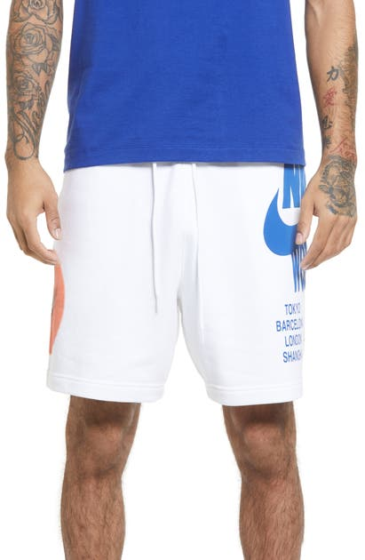 Nike SPORTSWEAR WORLD TOUR GRAPHIC DRAWSTRING SHORTS