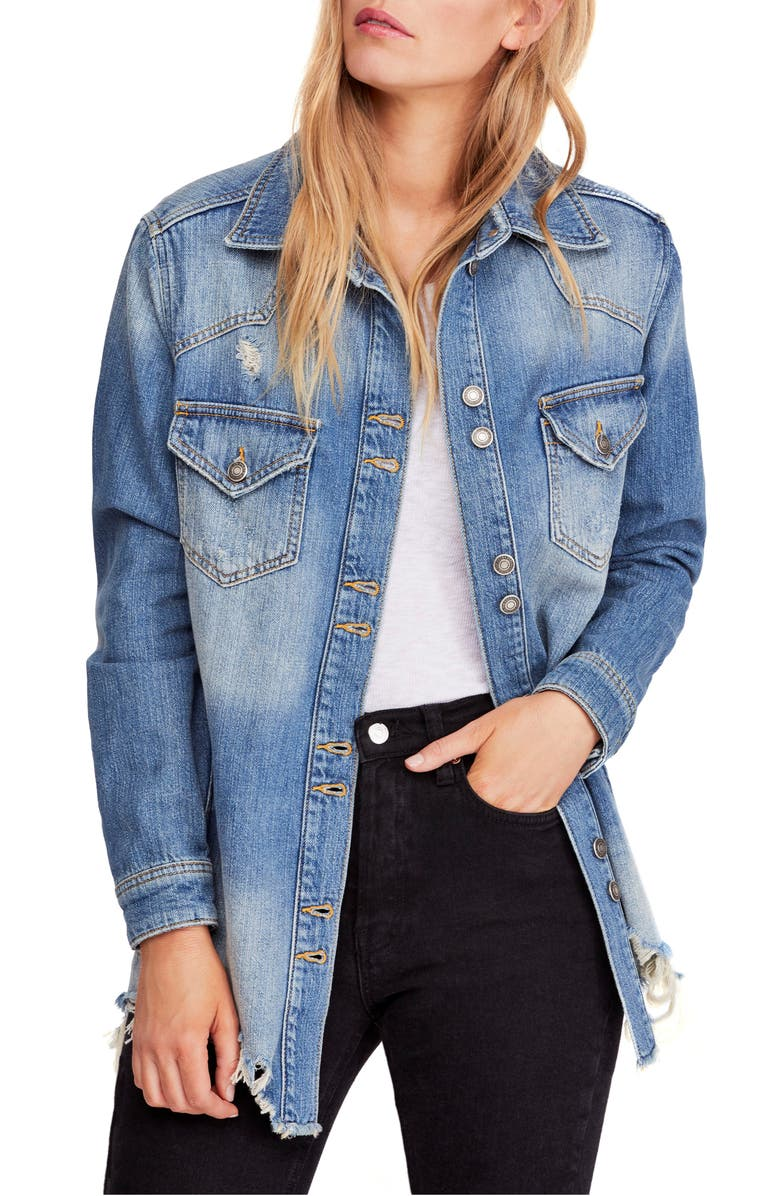 FREE PEOPLE Moonchild Shirt Jacket, Main, color, 403