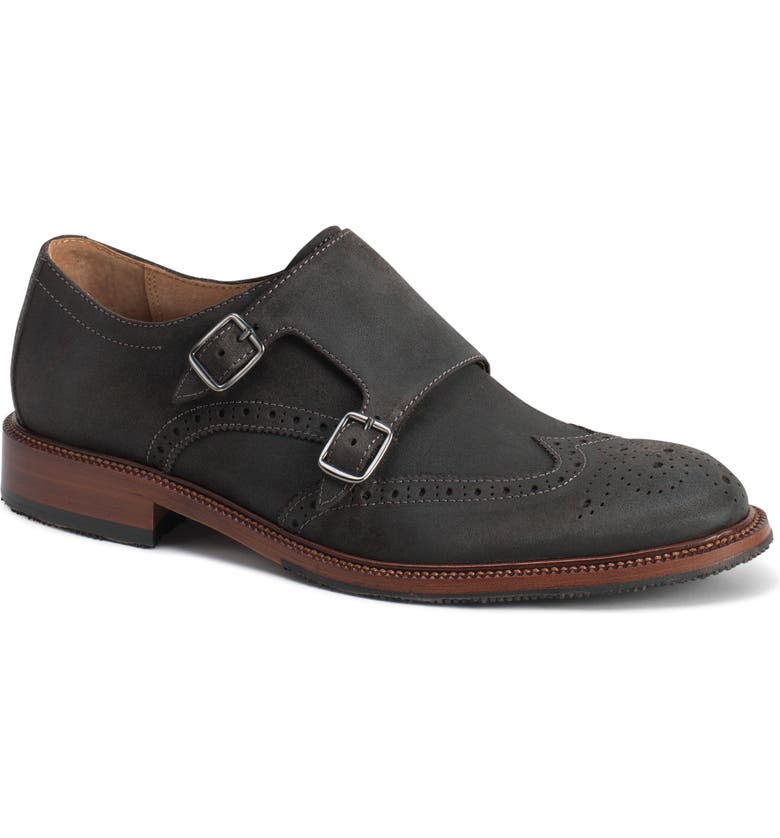 TRASK Leland Double Monk Strap Shoe, Main, color, 020