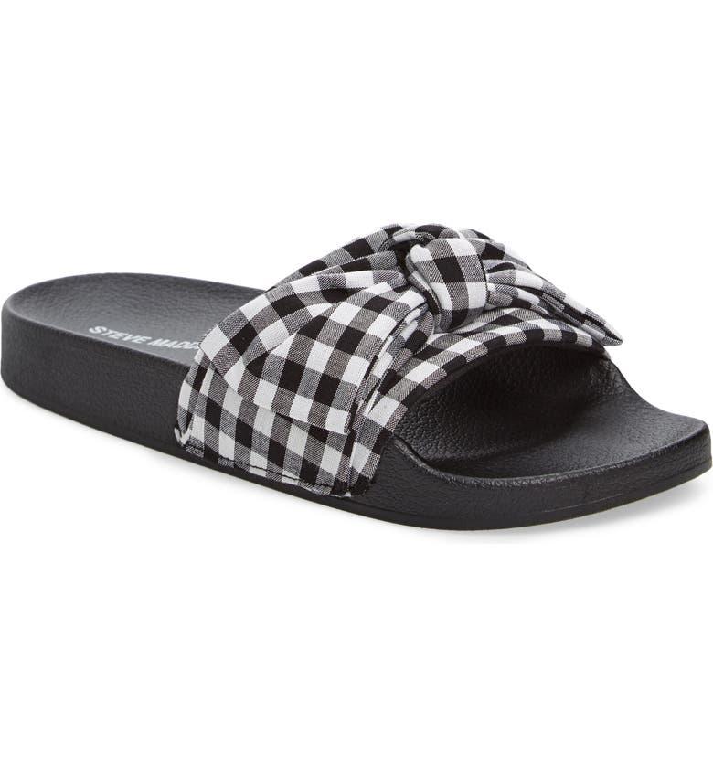 STEVE MADDEN Silky Slide Sandal, Main, color, 015