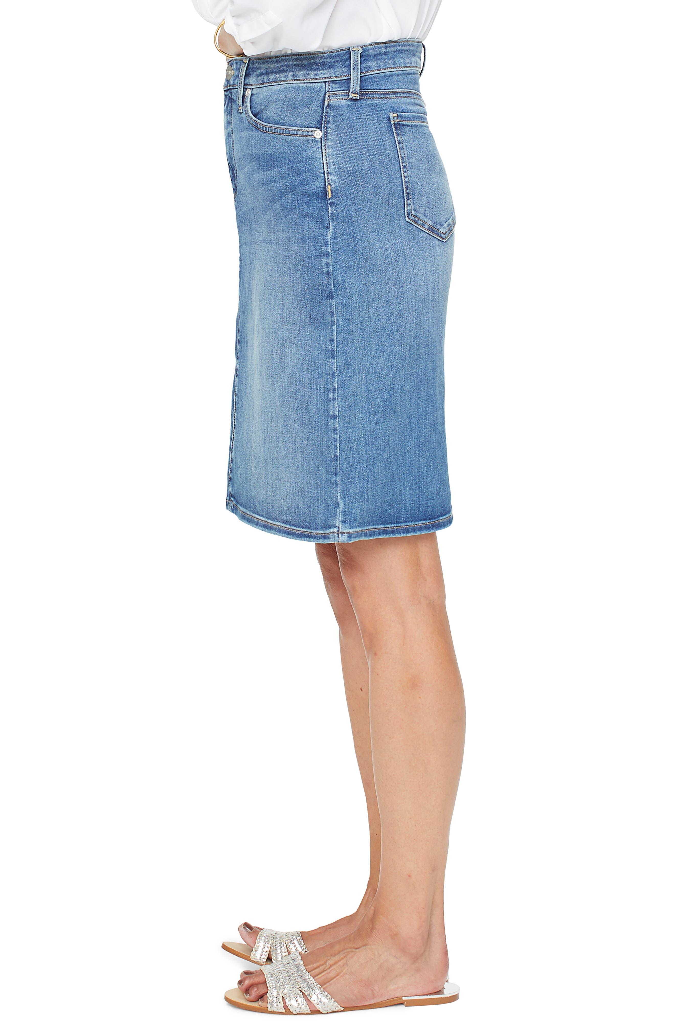 ,                             Denim Skirt,                             Alternate thumbnail 4, color,                             RHODES