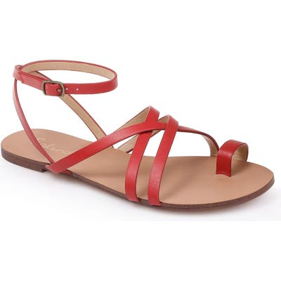 Splendid Sully Strappy Toe Loop Sandal, Red