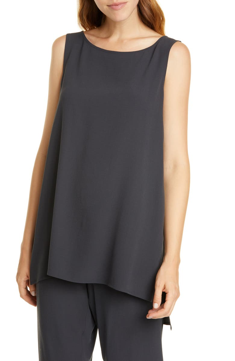 EILEEN FISHER Long Silk Shell, Main, color, 021