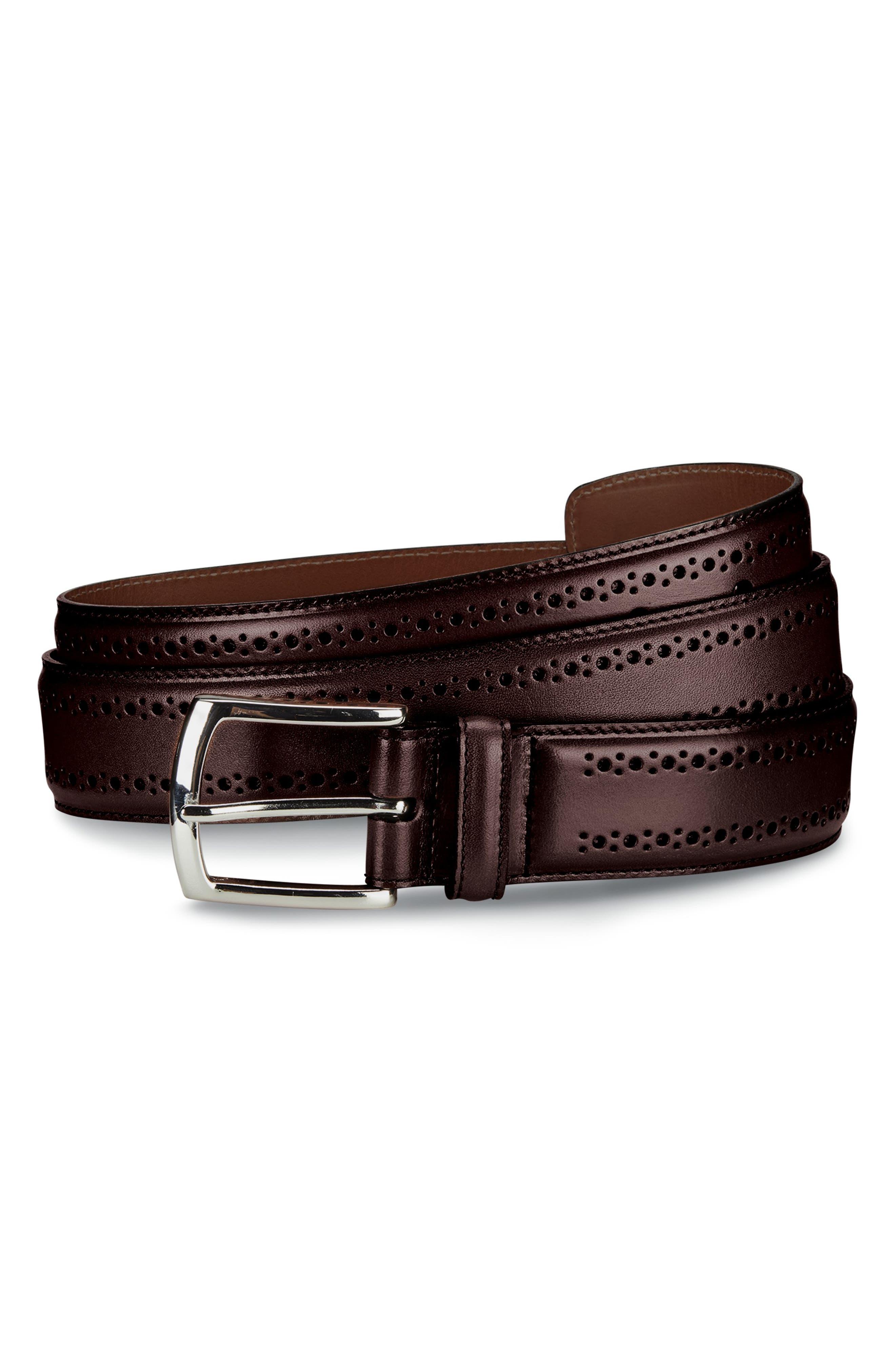 Manistee Brogued Leather Belt