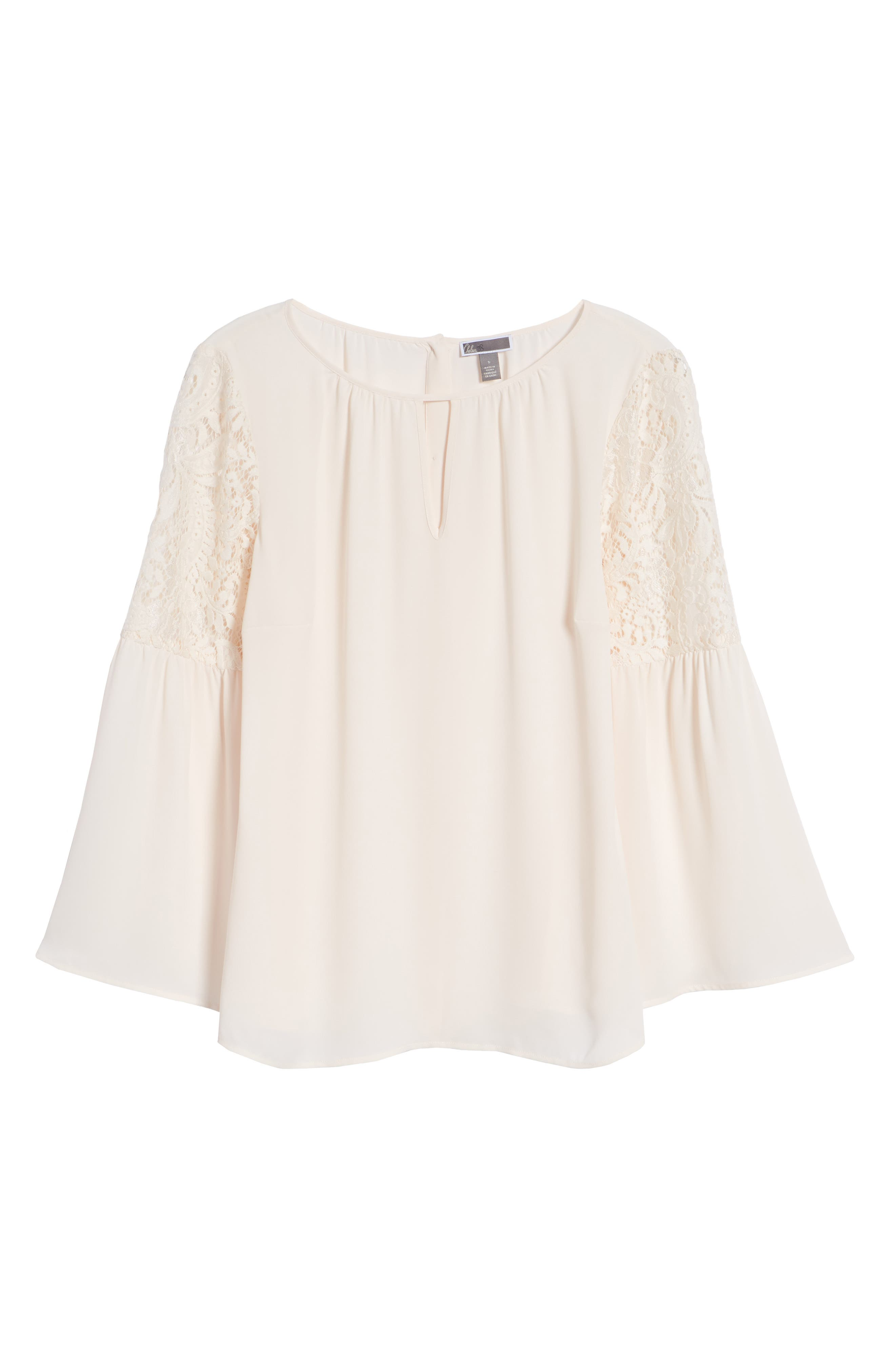 ,                             Lace Bell Sleeve Top,                             Alternate thumbnail 37, color,                             681