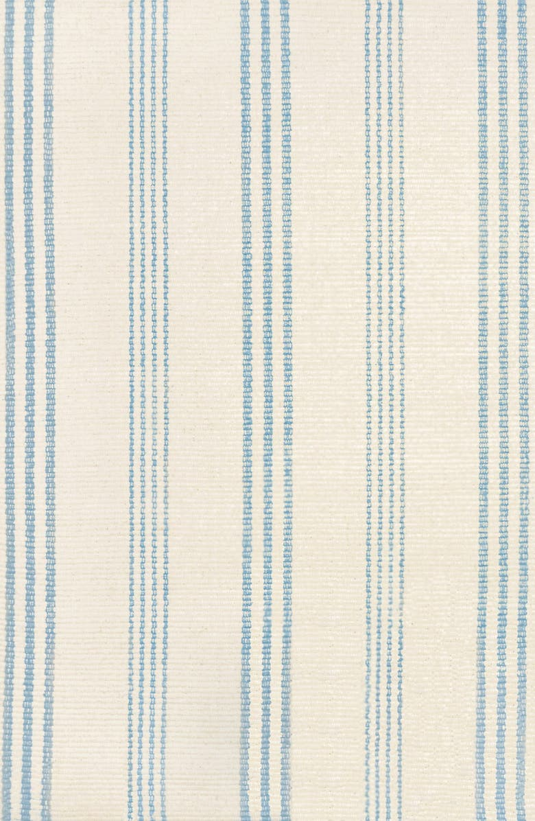 DASH & ALBERT 'Swedish' Stripe Rug, Main, color, IVORY/ BLUE