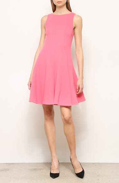 Wool Crepe Fit & Flare Dress, video thumbnail