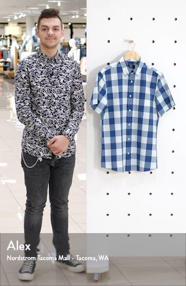 Trim Fit Check Short Sleeve Seersucker Button-Down Shirt, sales video thumbnail