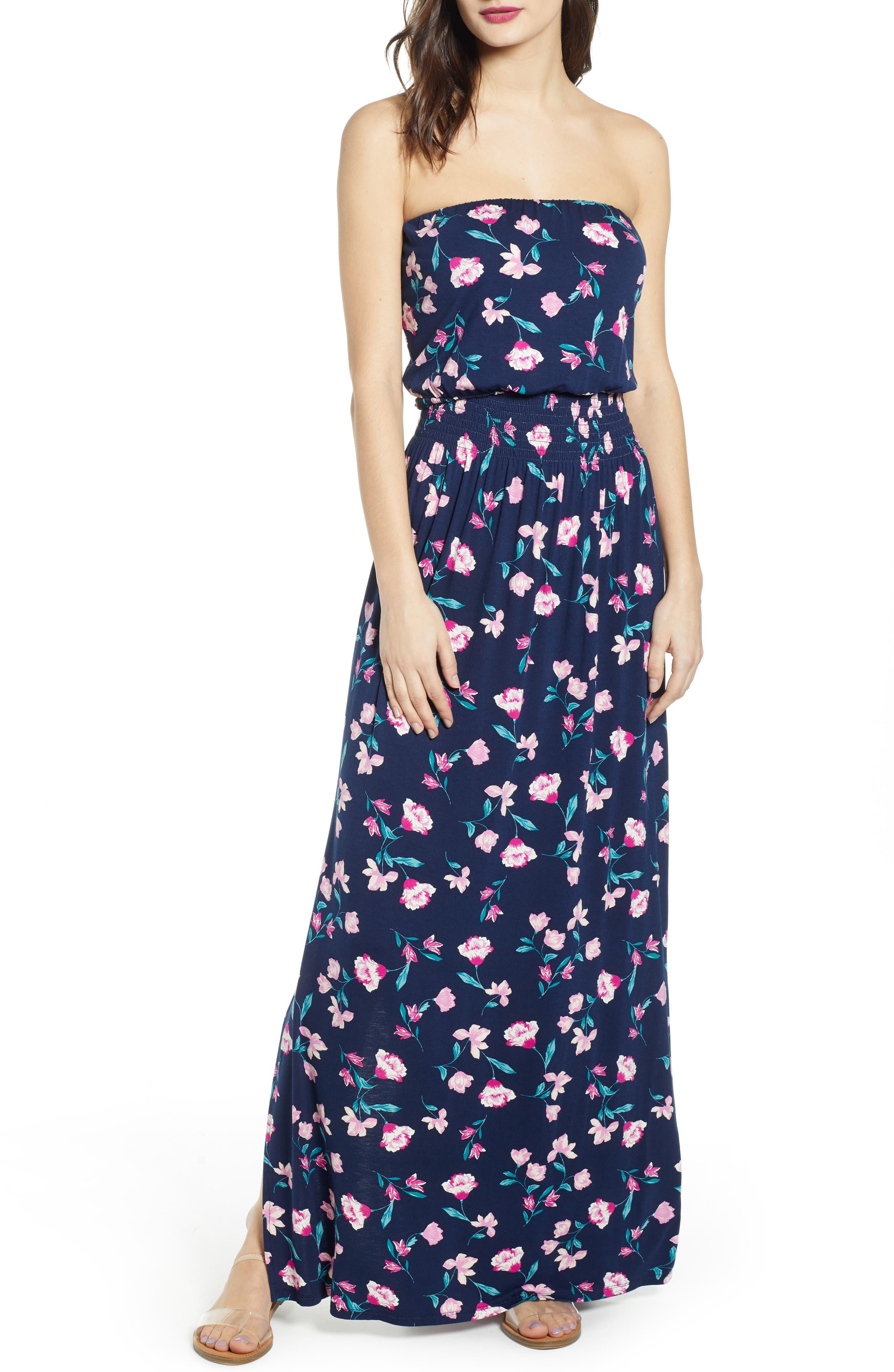 Bp. Strapless Maxi Dress, Blue