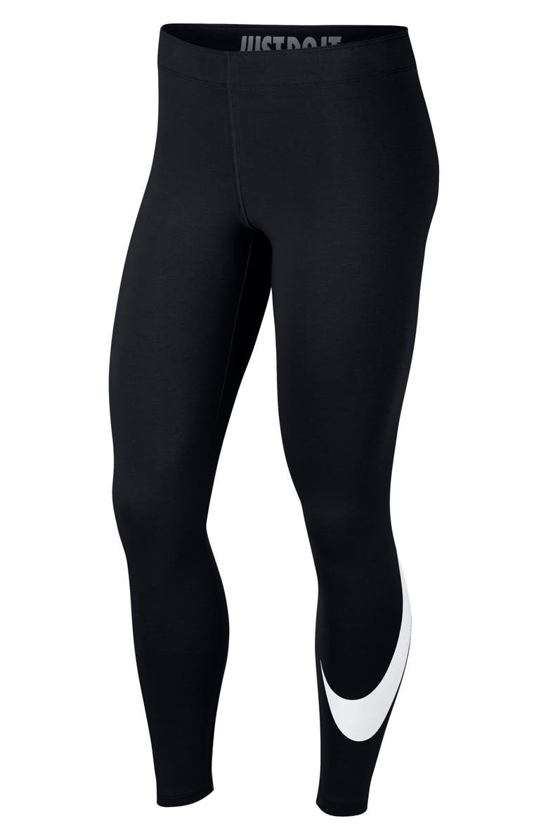 NIKE Sportswear Leg-A-See Women's Leggings, Main, color, BLACK/ WHITE