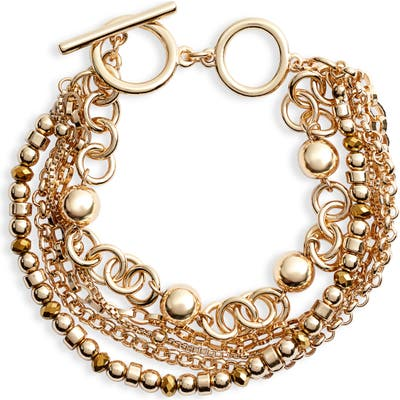 Halogen Beaded Layered Bracelet