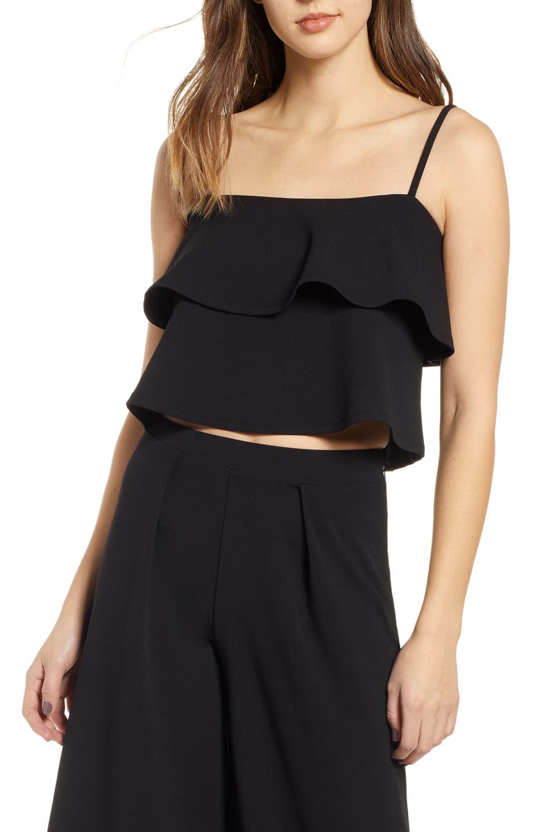 LEITH Tiered Ruffle Camisole, Main, color, 001