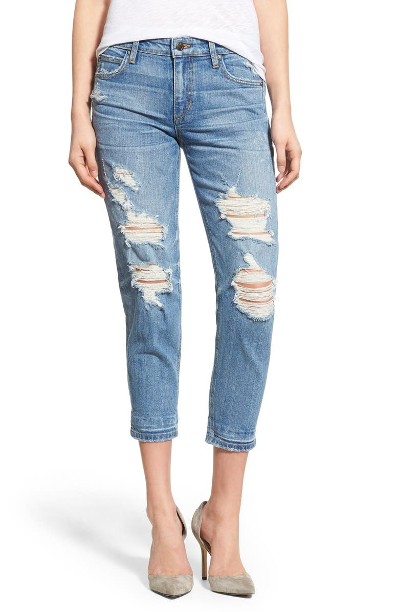 JOE'S 'Collector's - Billie' Destroyed Crop Slim Boyfriend Jeans, Main, color, 410