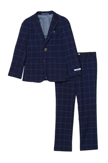 Image of Isaac Mizrahi 2-Piece Slim Fit Window Pane Suit