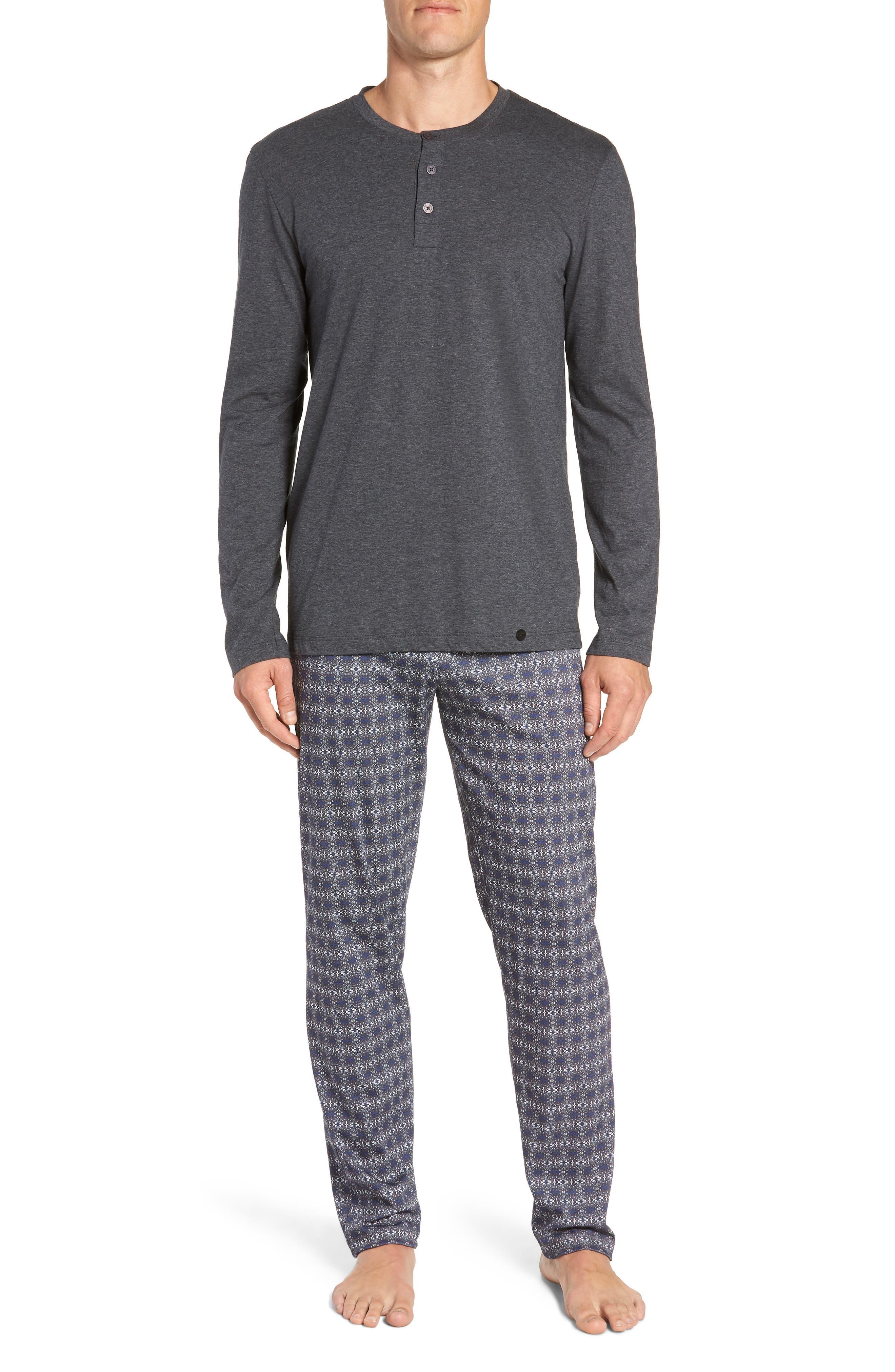 Hanro Night & Day Cotton Pajama Set, Grey