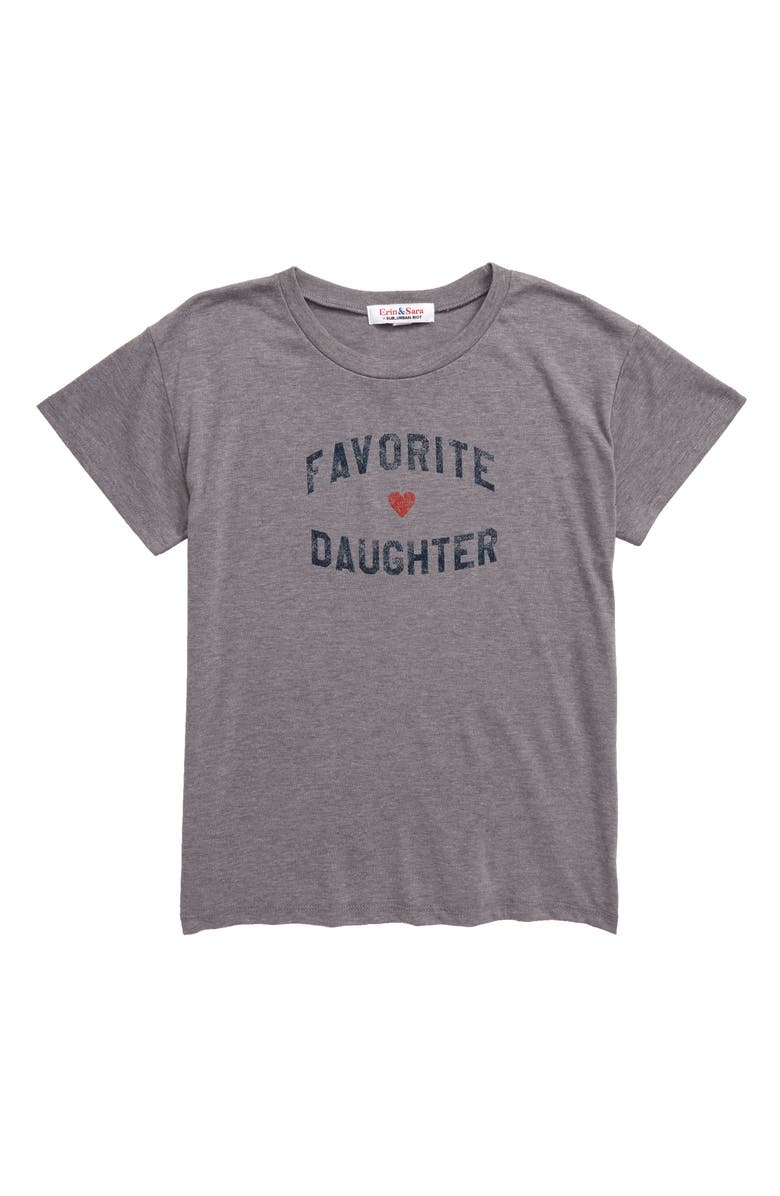 SUB_URBAN RIOT Favorite Daughter Tee, Main, color, HEATHER GREY