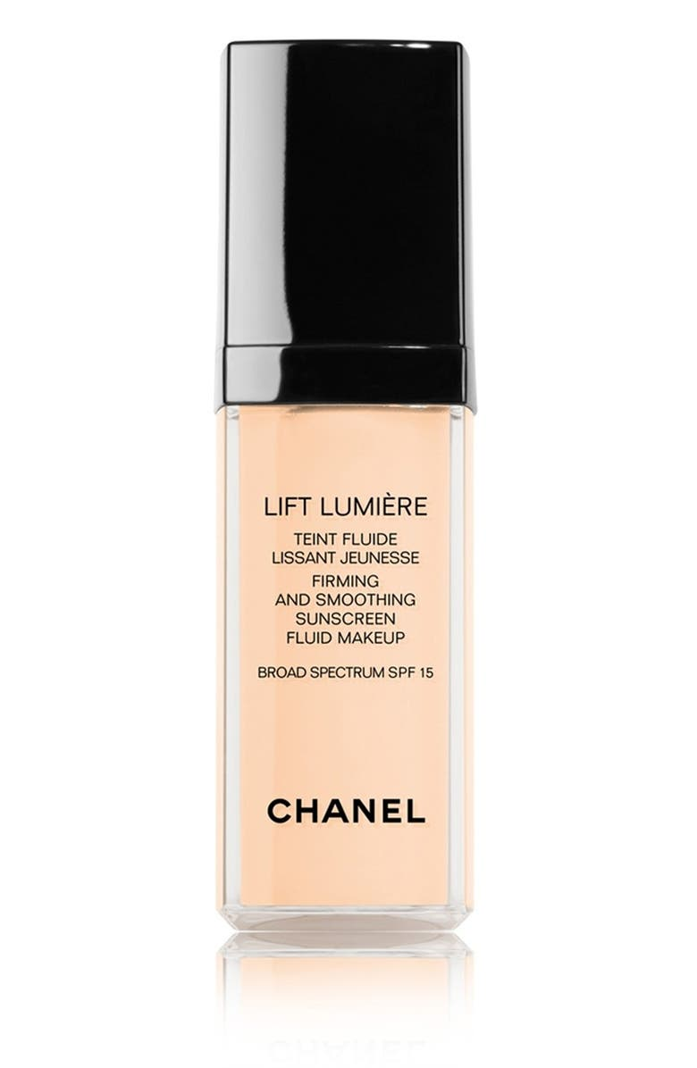 CHANEL LIFT LUMIÈRE <br />Firming & Smoothing Sunscreen Fluid Makeup Broad Spectrum SPF 15, Main, color, 005