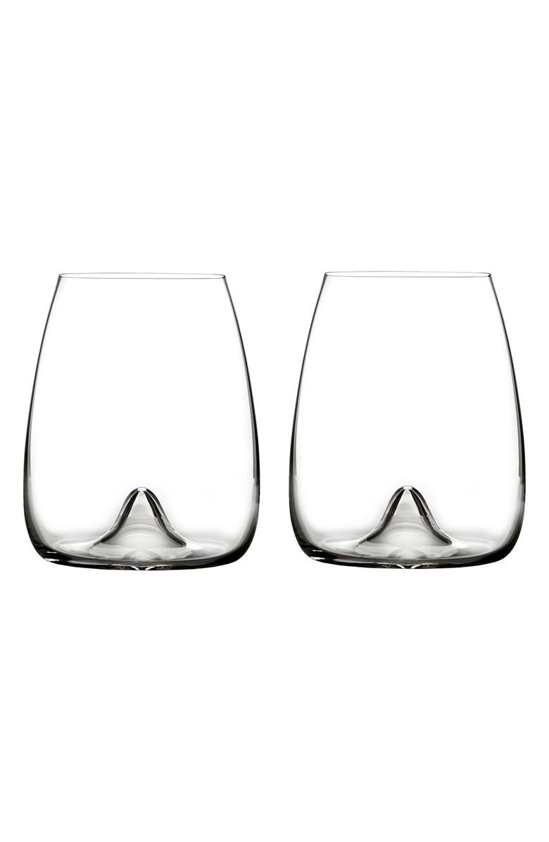 WATERFORD Elegance Set of 2 Fine Crystal Stemless Wine Glasses, Main, color, CLEAR