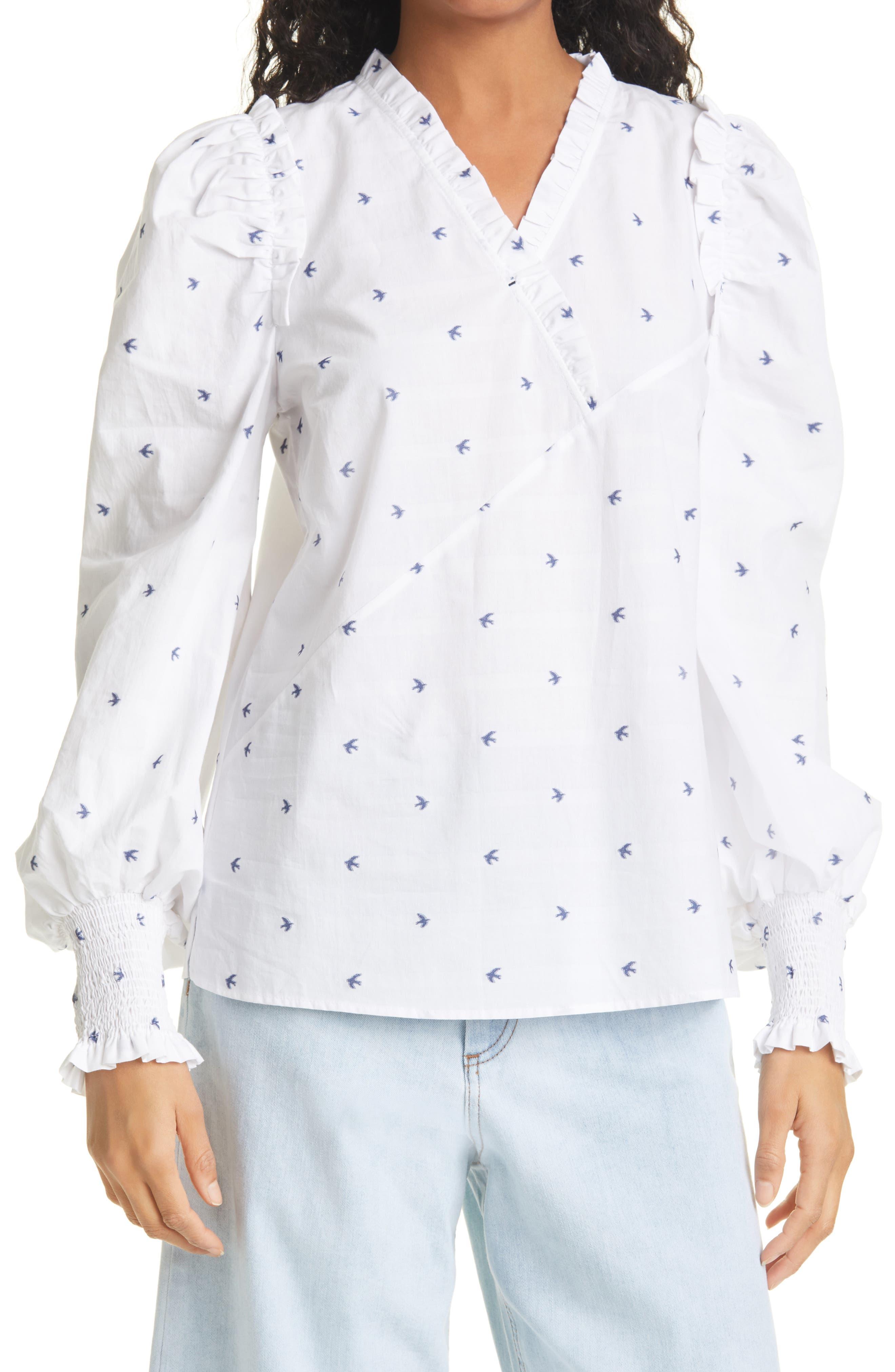 Tama Ruffle Long Sleeve Shirt