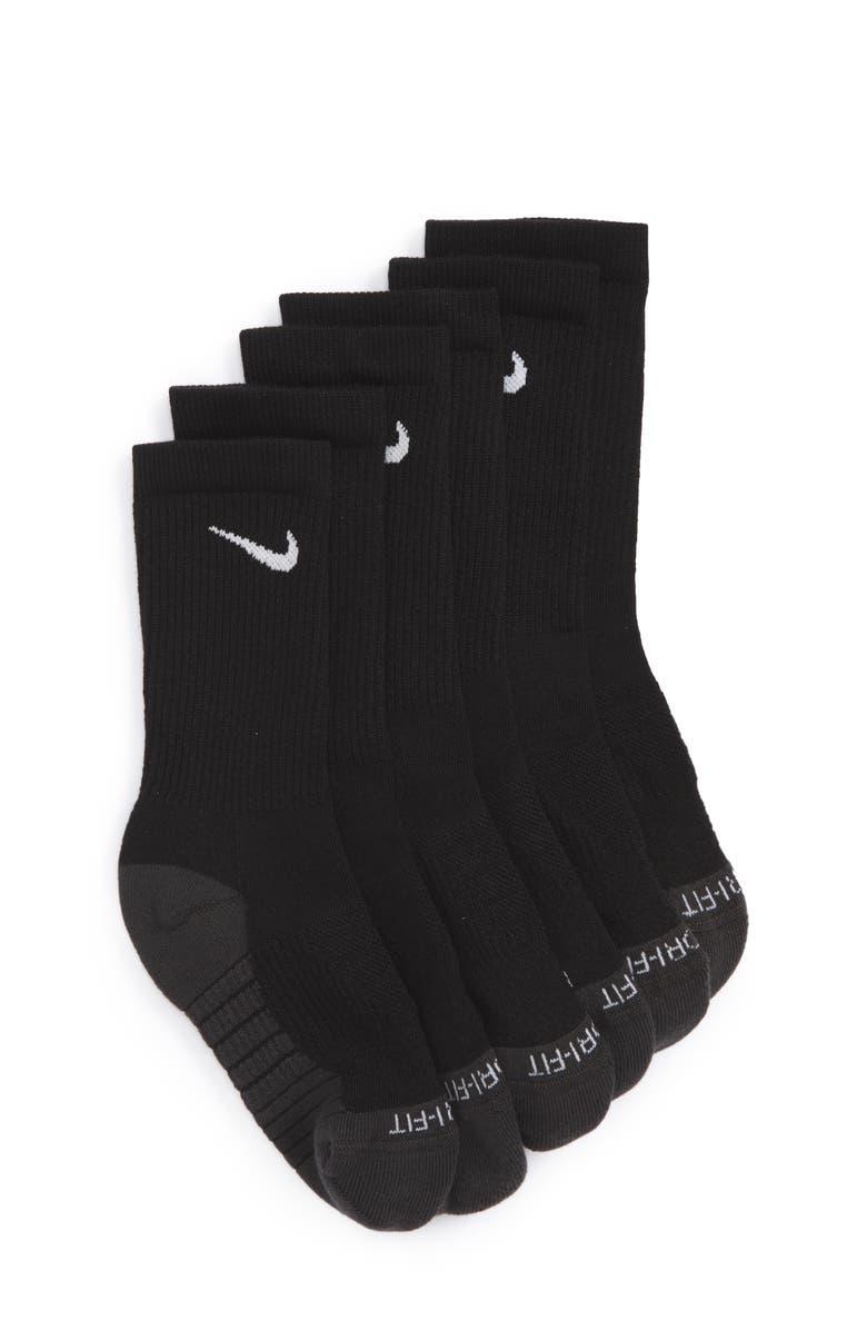 NIKE Dry Ultimate Flight 3-Pack Cushioned Crew Socks, Main, color, 010