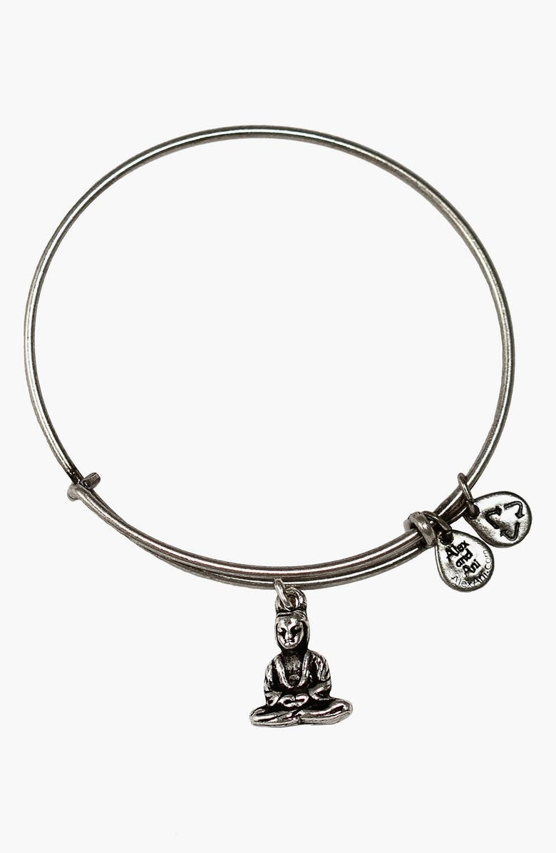 ALEX AND ANI 'Buddha' Expandable Wire Bangle, Main, color, 040