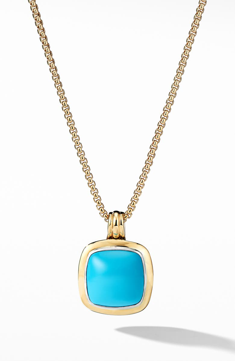 DAVID YURMAN Albion<sup>®</sup> Pendant with 18k Gold, Main, color, RECONSTITUTED TURQUOISE