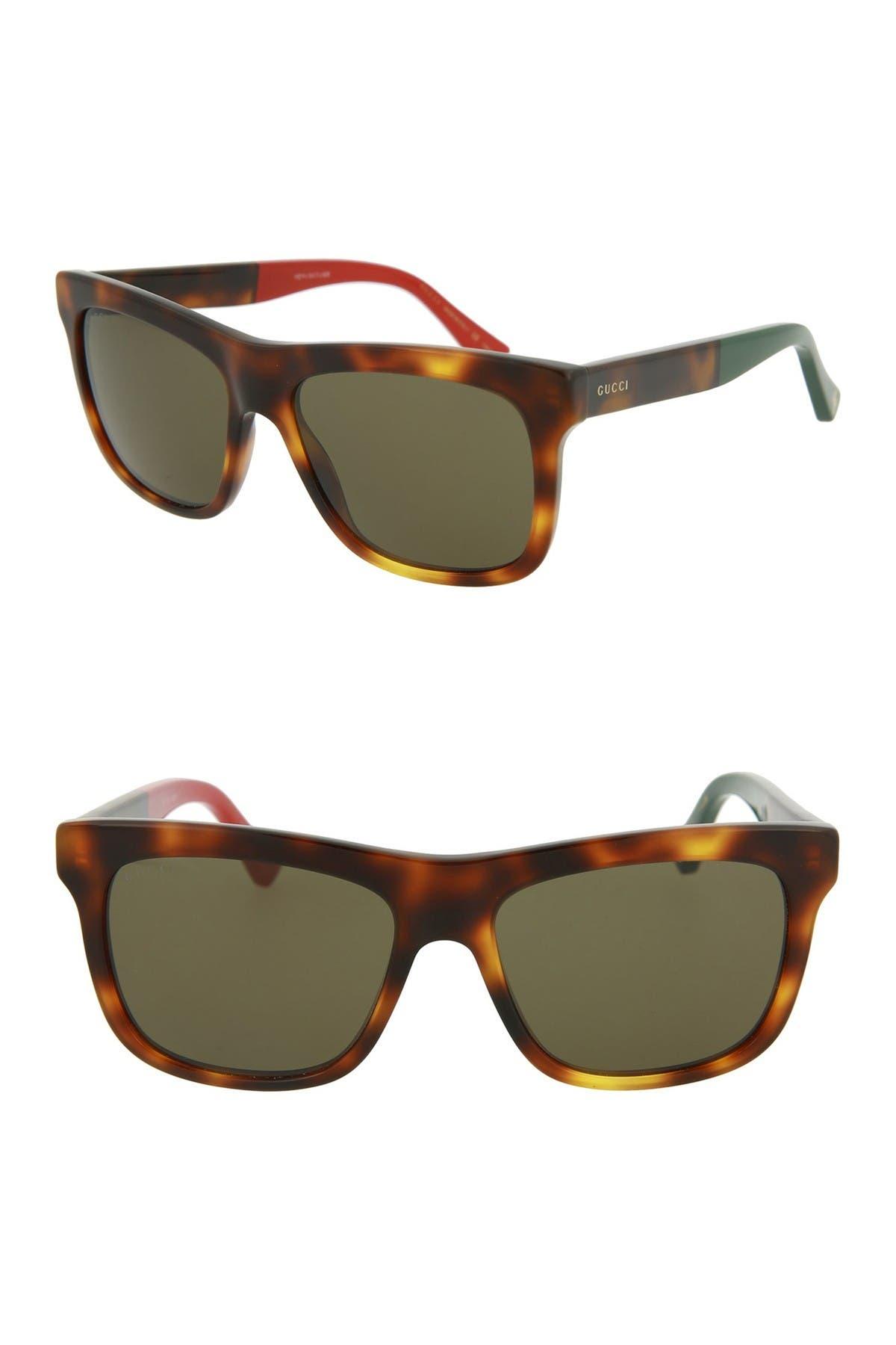 Image of GUCCI 54mm Square Sunglasses