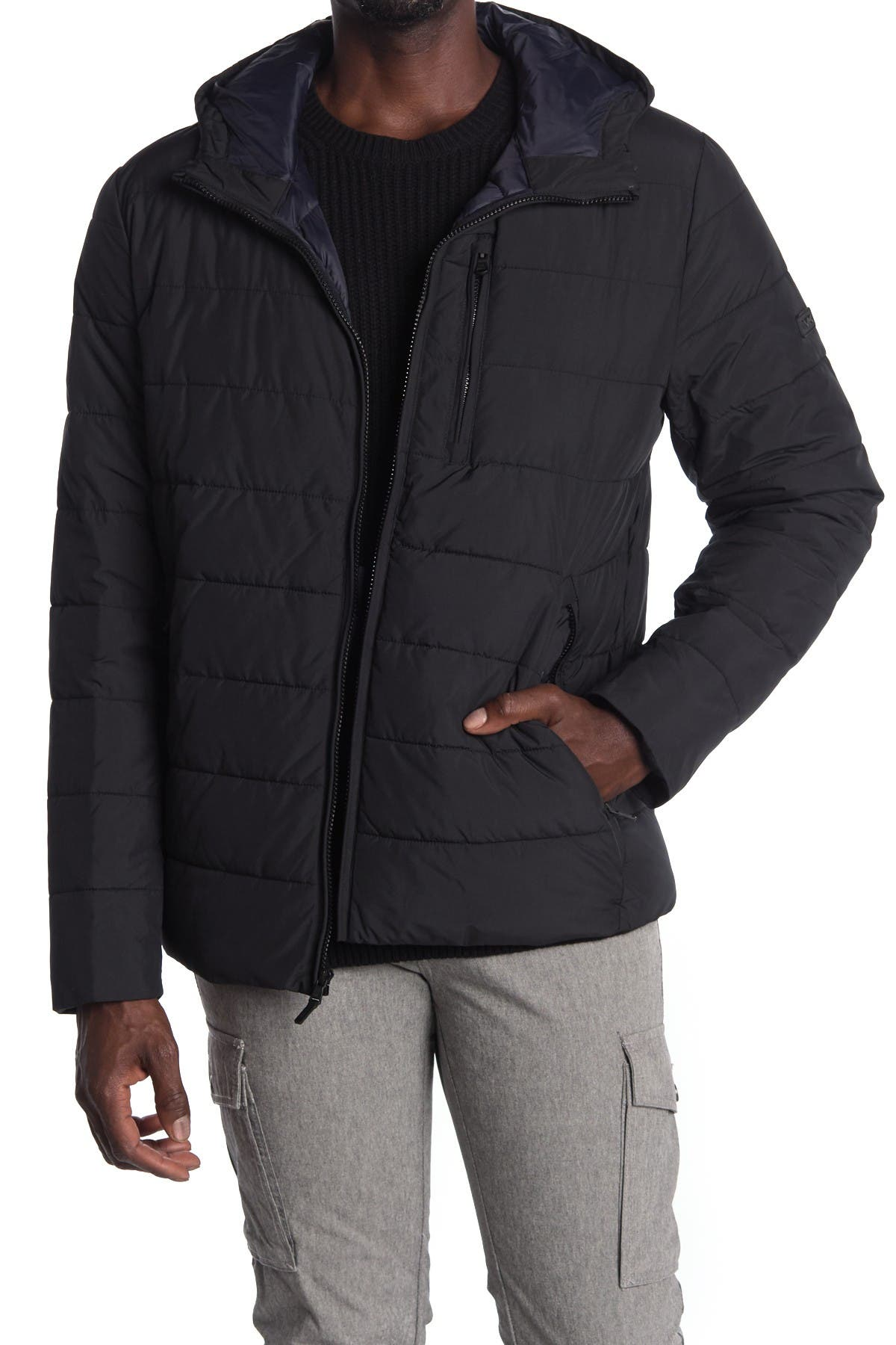 Image of Michael Kors Hooded Puffer Jacket