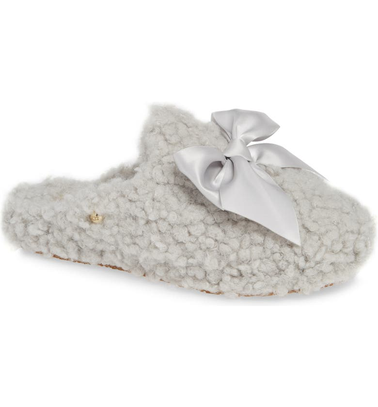2c25a330488 Addison Bow Faux Shearling Slipper